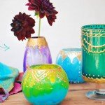 Moroccan Style Painted Candle Holders