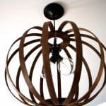 DIY West Elm Inspired Bentwood Pendant Light