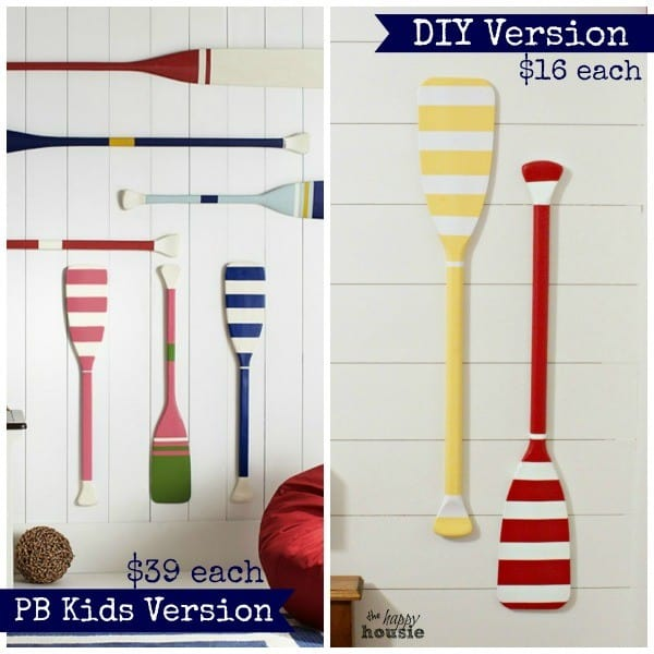 DIY Pottery Barn Oar Wall Hanging