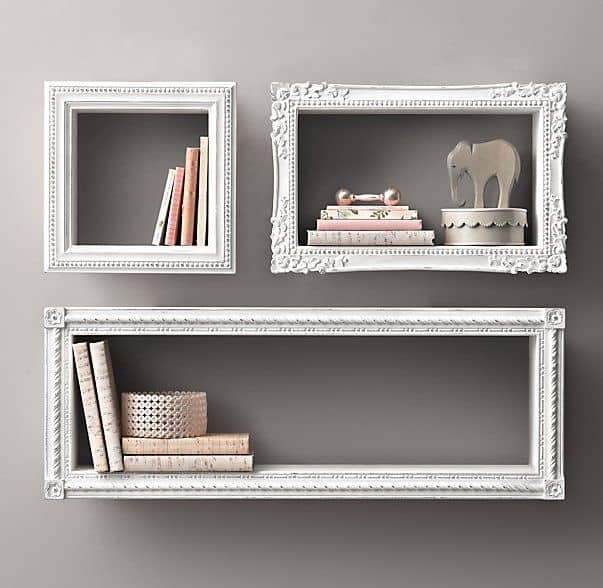 Restoration hardware floating shelves