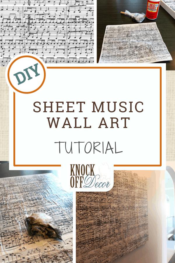 Sheet Music Wall Art Knockoffdecor