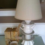 Cute DIY Teapot Lamp Inspired by Anthropologie