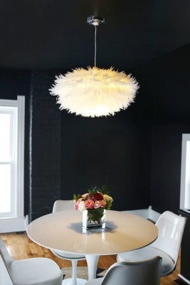 Simple beautiful mess feather chandelier