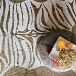 Metallic Zebra Print Rug