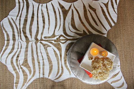 home depot zebra rug