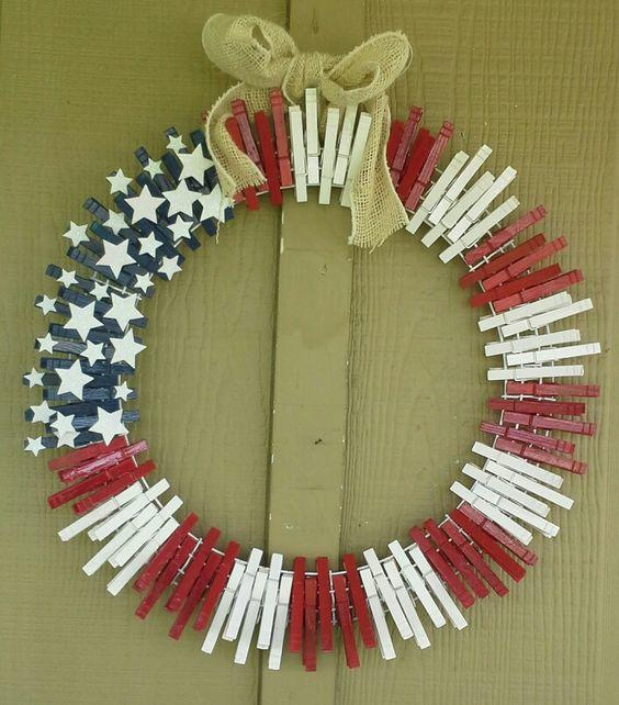 july 4 wreath inspo