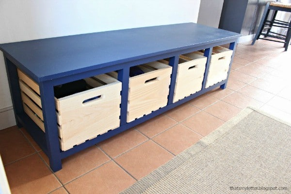 lg. crate shoe storage bench 2 tml