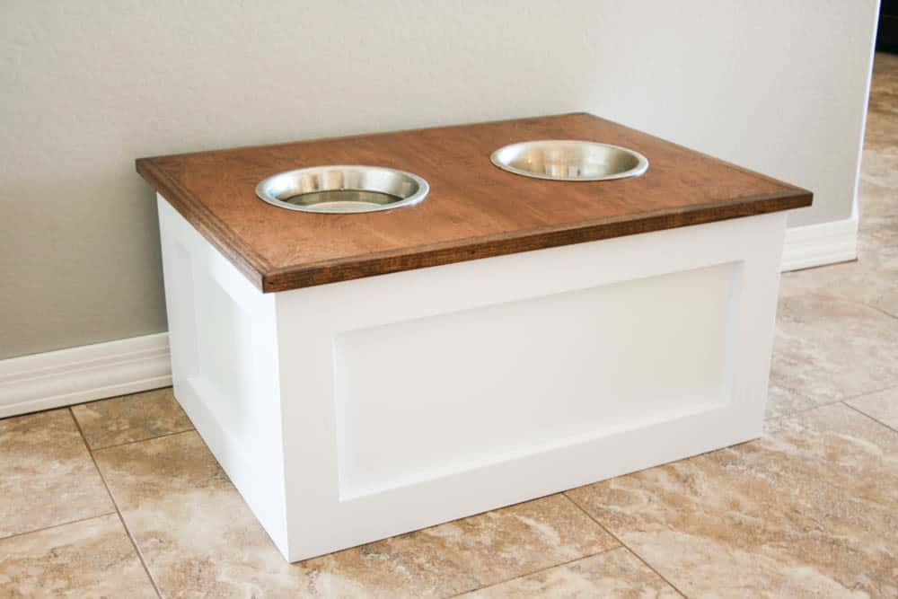 DIY Pet Feeder Station with Storage - KnockOffDecor.com