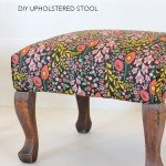 Beautiful Reupholstered Floral Stool