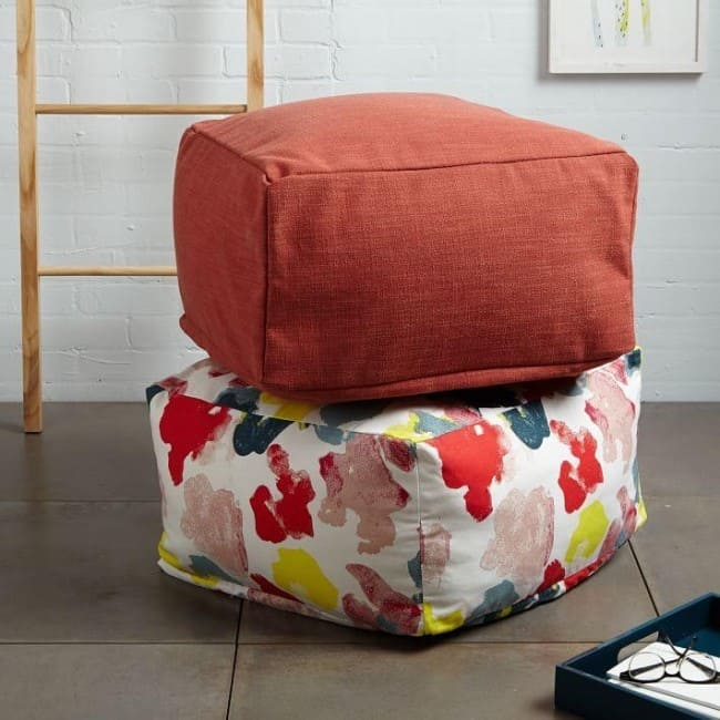Easy Square Floor Pouf
