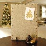 DIY Burlap Message Board