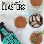Easy Leather and Crochet Coasters