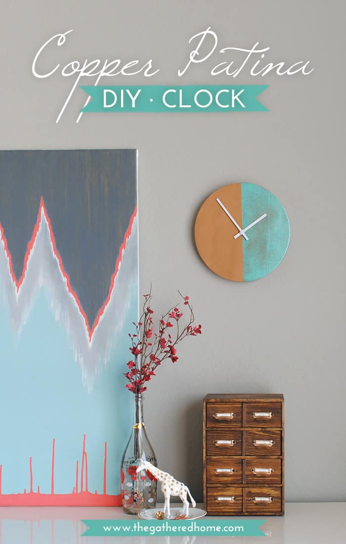 Anthropologie Inspired Copper Patina Clock
