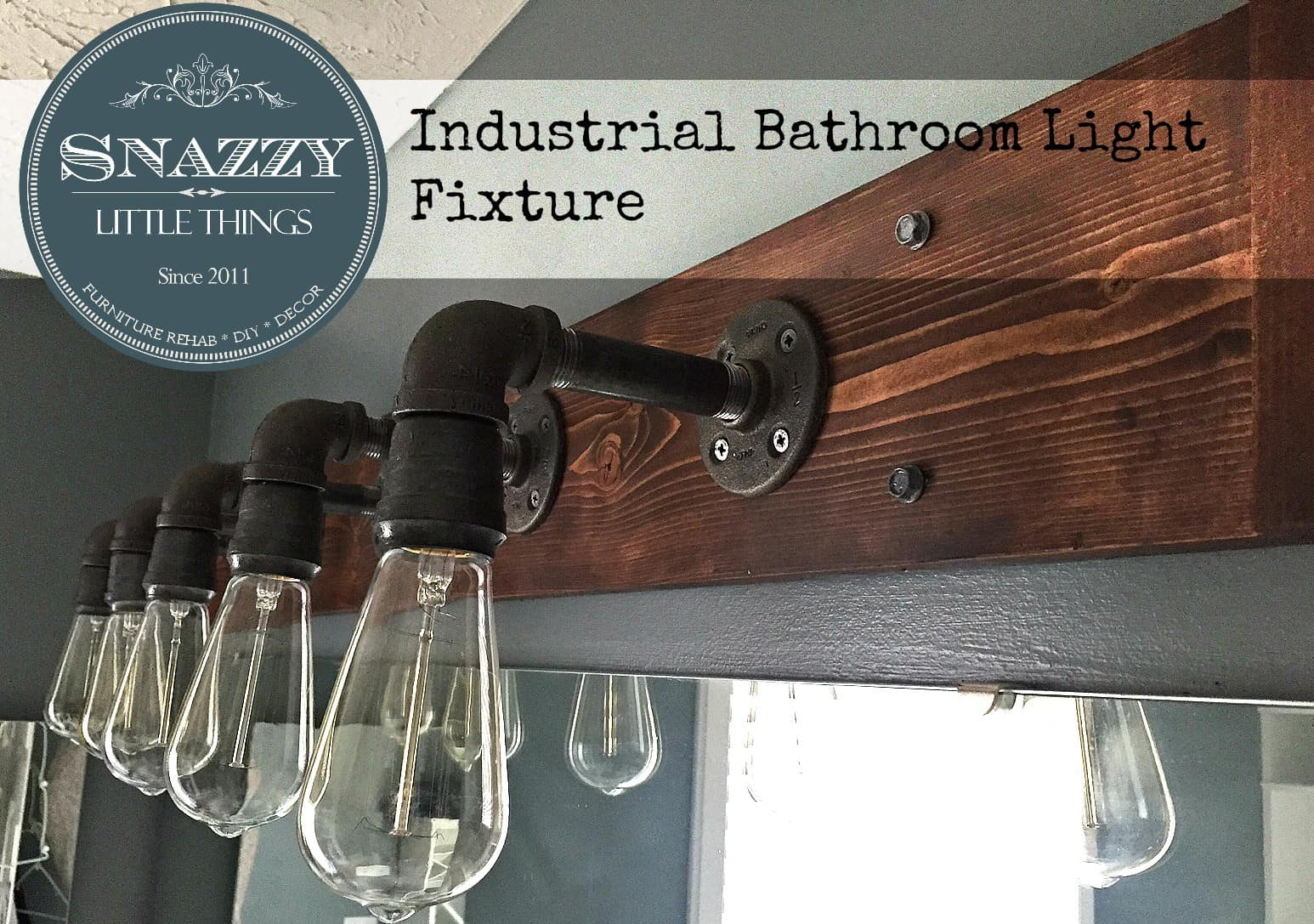 Industrial Bathroom Light
