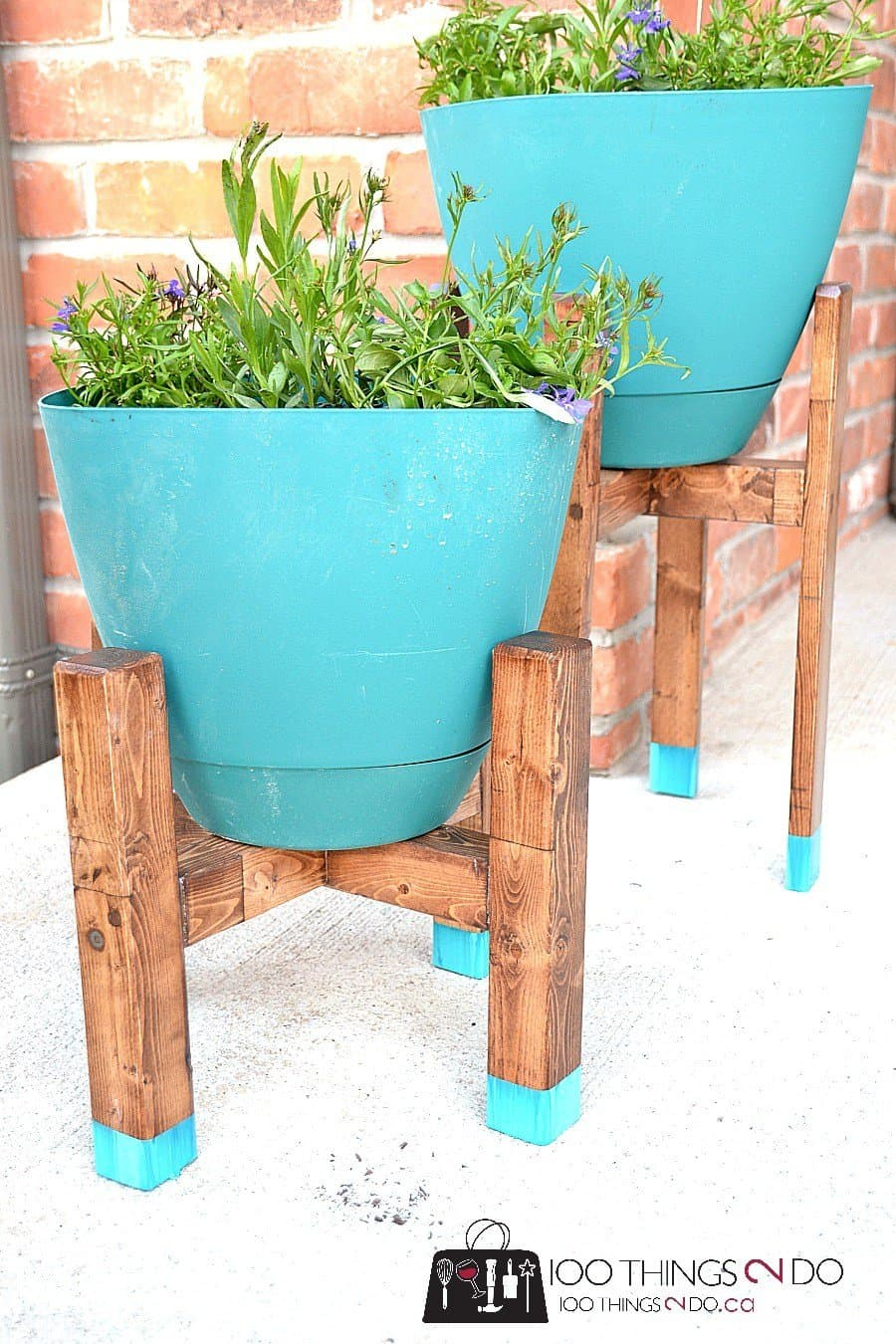 DIY West Elm Style Plant Stand
