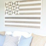 Planked American Flag Wall Art