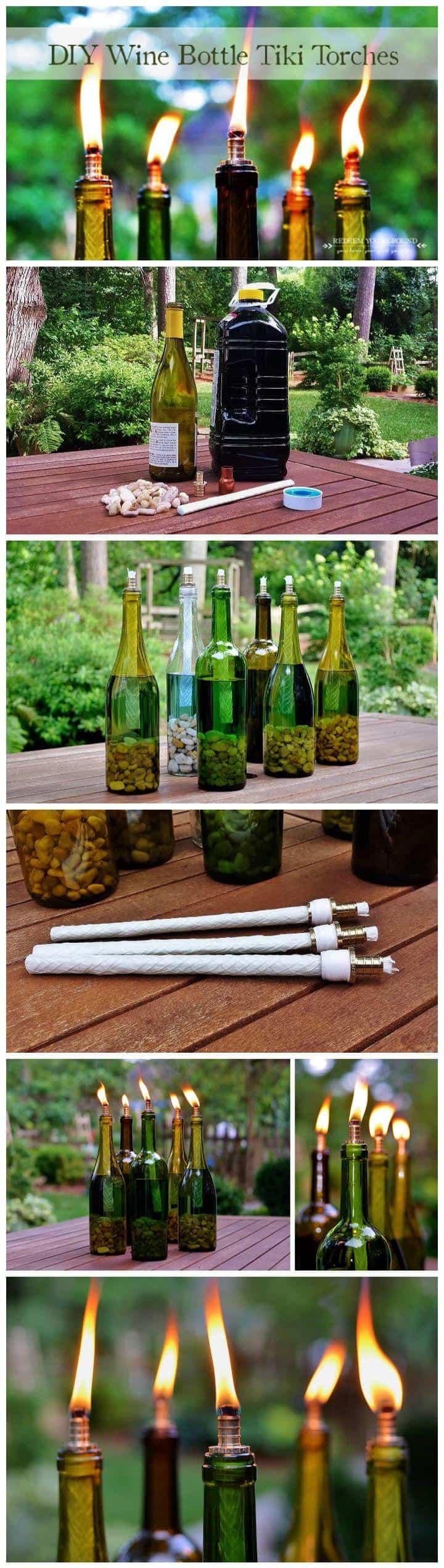 Wine bottles always look chic!