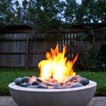Simple Concrete Backyard Fire Pit