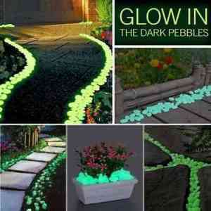 How fun are these glow-in-the-dark pebbles?!