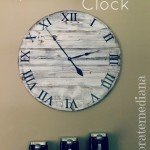 Oversized Distressed Clock
