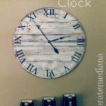 Oversized Distressed Clock
