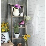 Plant Stand from Vintage Ladder