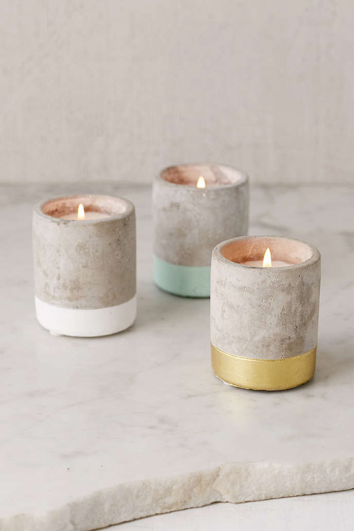 UO cement candleholders
