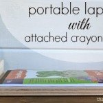 Kids Crayon Holder and Lap Tray