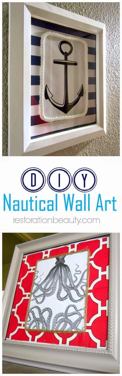 diy nautical wall art 10