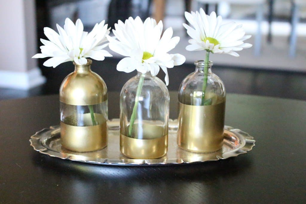 Easy Gold Dipped Vase