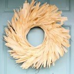 Anthropologie Inspired Corn Husk Wreath