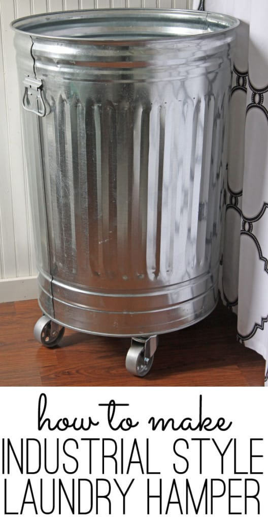 DIY Industrial Laundry Hamper On Wheels