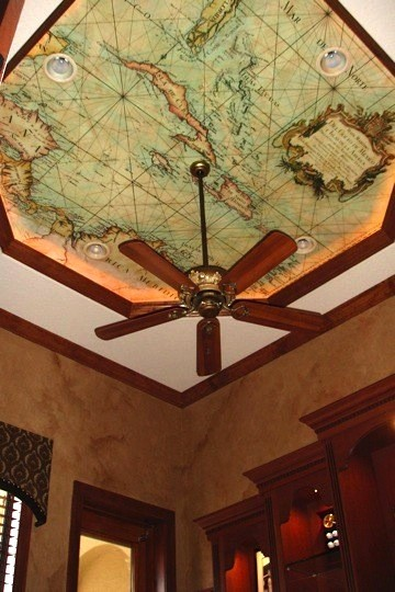 A map like this is sure to captivate your guests.