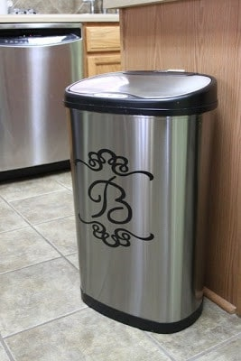 Monograms always look classy and match all types of decor.