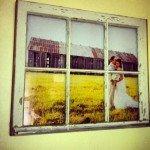 Vintage Window Pane Picture Frame DIY