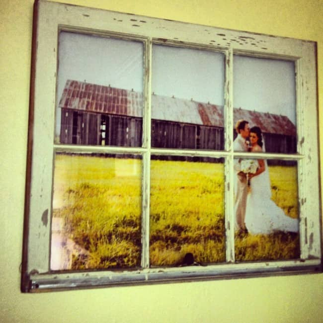 Vintage Window Pane Picture Frame Diy