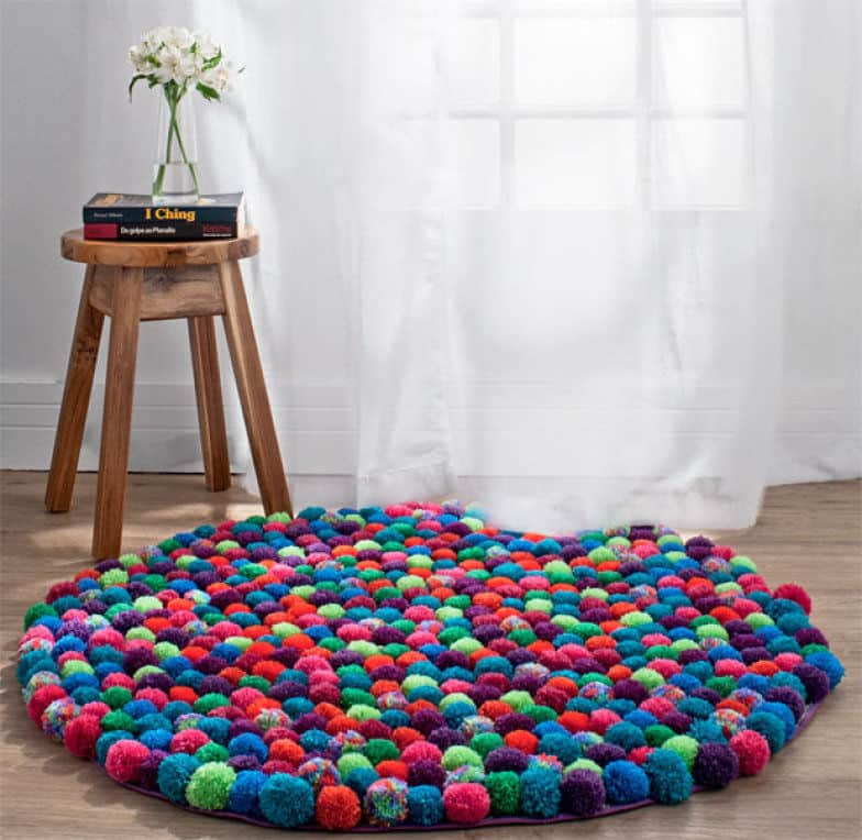 This fun rug adds color and spunk!