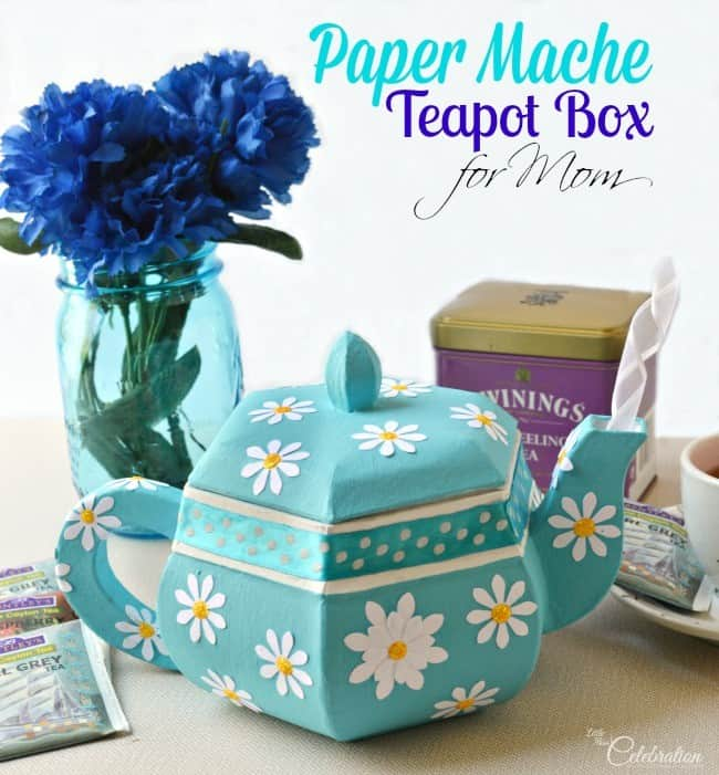DIY Paper Mache Teapot