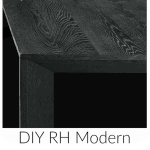 Restoration Hardware Black Oak Finish