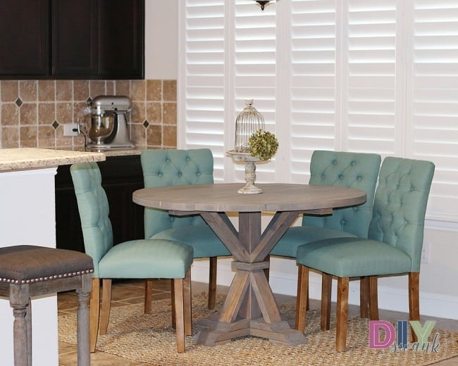 Astounding Z Gallerie Inspired Round Farmhouse Table Knockoffdecor Com Machost Co Dining Chair Design Ideas Machostcouk
