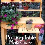Outdoor Garden Potting Table Makeover