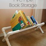 PVC Pipe Book Storage DIY