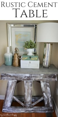 Rustic-Cement-Table