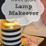 Old Secondhand Lamp Makeover