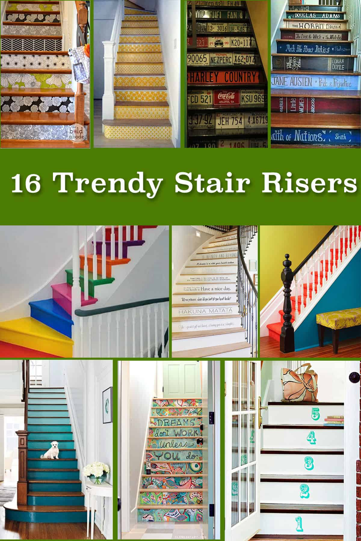 16 Trendy Stair Risers Knockoffdecor Com