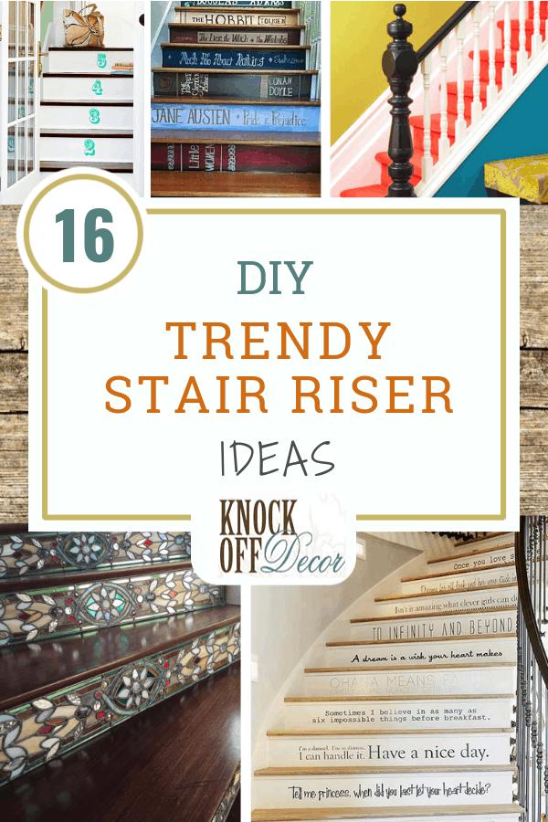 Stair riser ideas