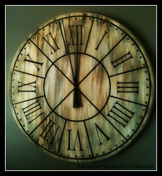 Don't be fooled...this clock is 3 feet wide in diameter!