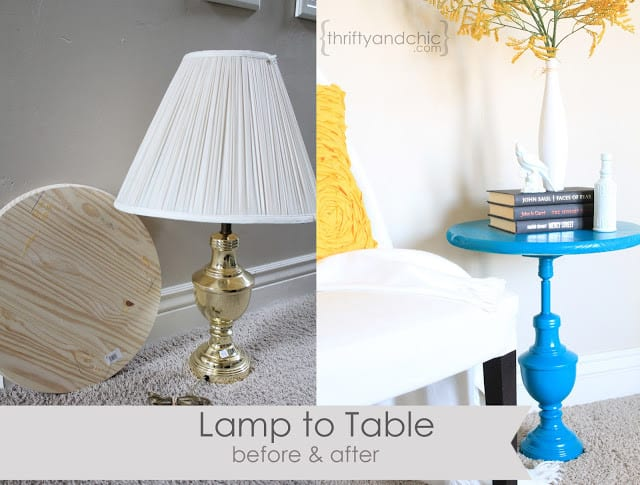 lamp to table before after