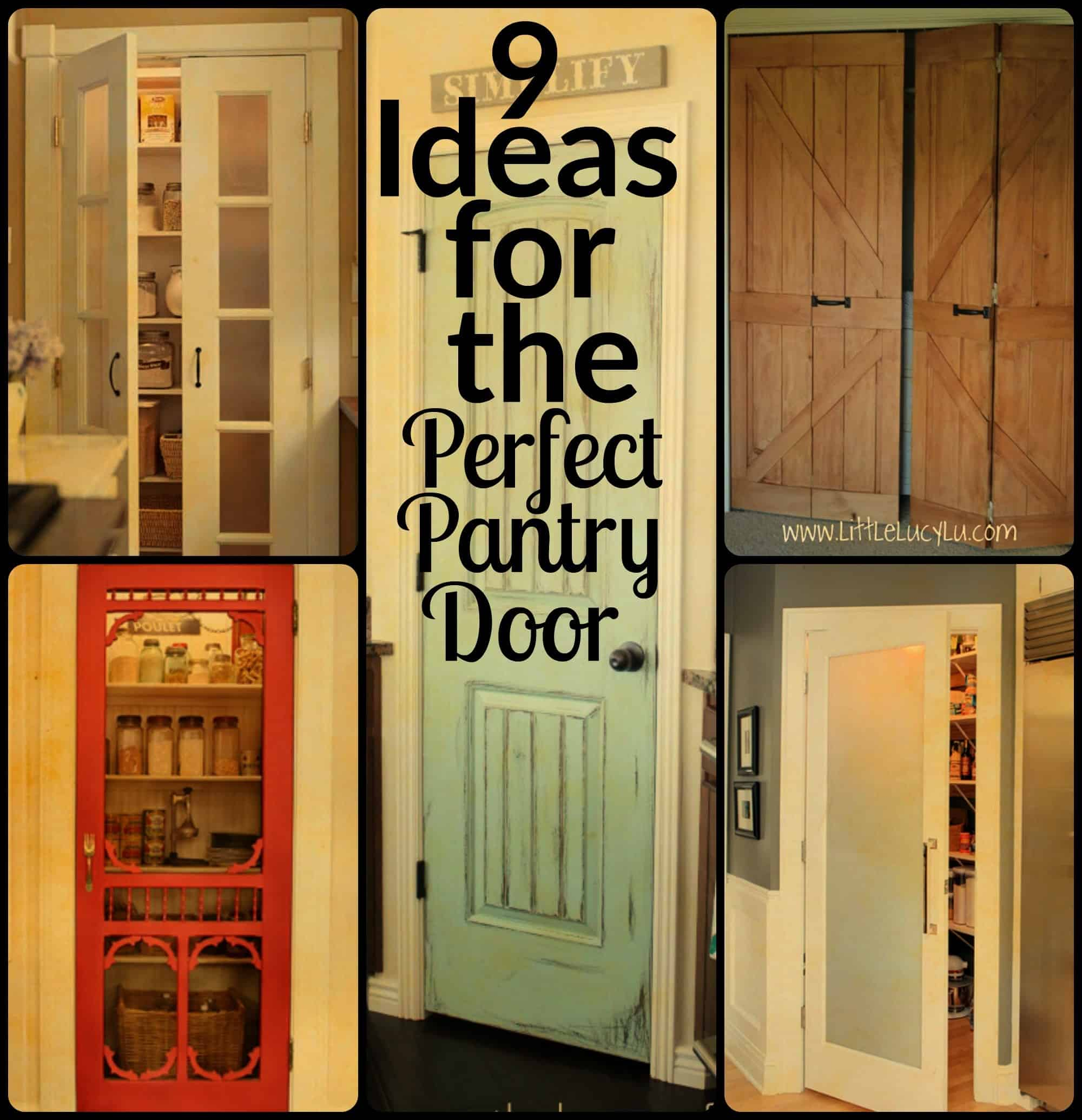 How to open a bathroom door - 9 Ideas For The Perfect Pantry Door