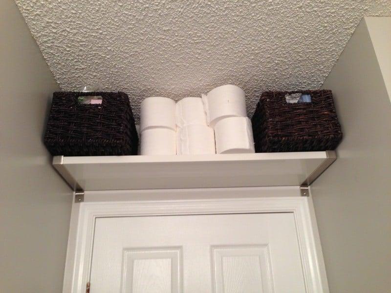 Over the door storage is often over-looked!